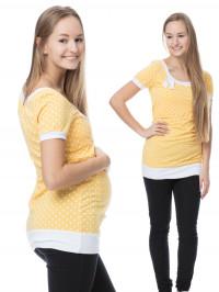 Tricou sarcină şi alăptare Alda galben