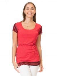 Tricou sarcină şi alăptare Chania roșu