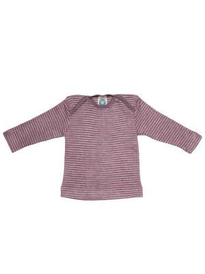 Bluză amestec bumbac, lână şi mătase, mov-roz
