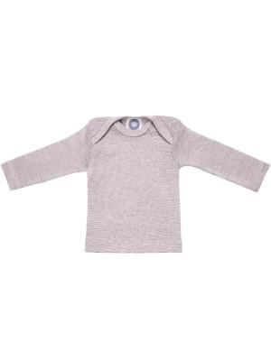 Bluză lână şi mătase Grey