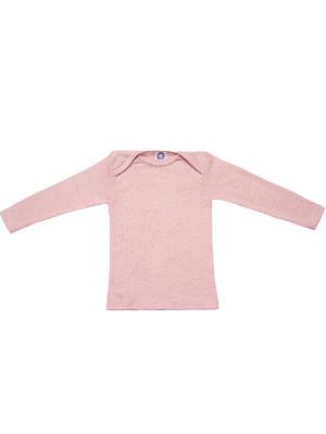 Bluză lână şi mătase Rose Melange