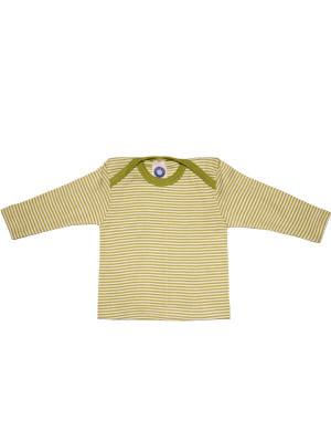 Bluză lână şi mătase, verde dungi