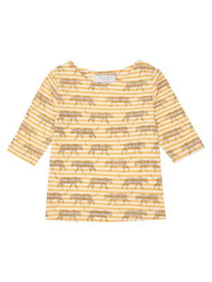 Bluză mâneci ¾ Louise Yellow Stripes