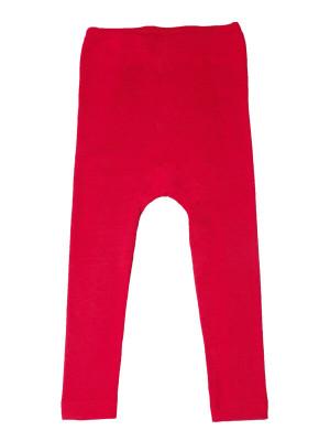 Leggings copii lână şi mătase, roşu