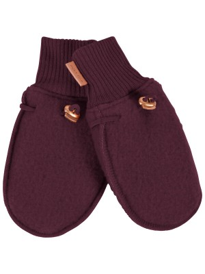 Mănuşi lână fleece Madder Brown