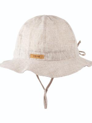 Pălărie ajustabilă din in, protecţie UV, Sand