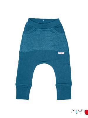 Pantaloni baggy din lână merinos Kangaroo Mykonos Waters