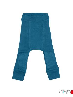 Pantaloni dublaţi lână merino Longies Patches Mykonos
