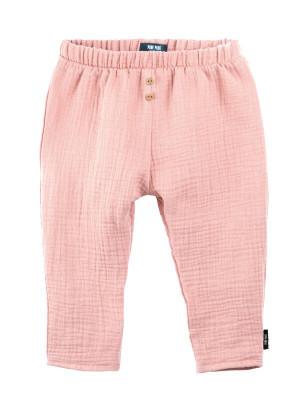 Pantaloni muselină dublă Coral Peach